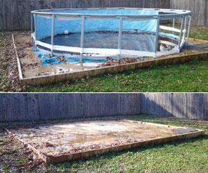Above ground pool demo in Lakeland, FL