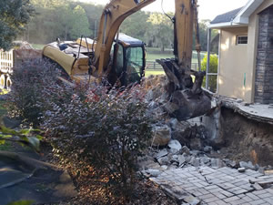Demo of swimming Pool from TNT Environmental